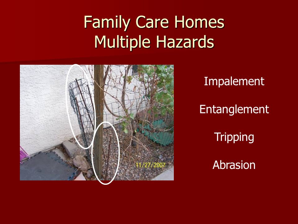 Family Care Homes Multiple Hazards