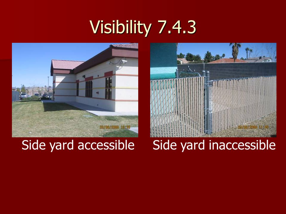 Side yard inaccessible