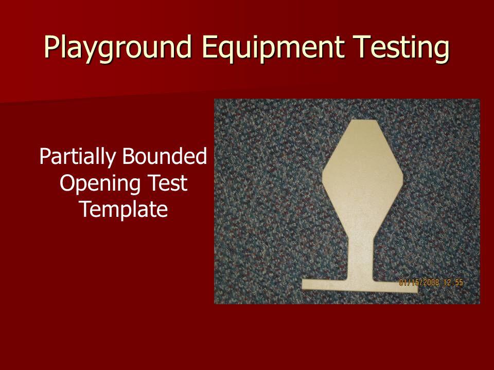 Playground Equipment Testing