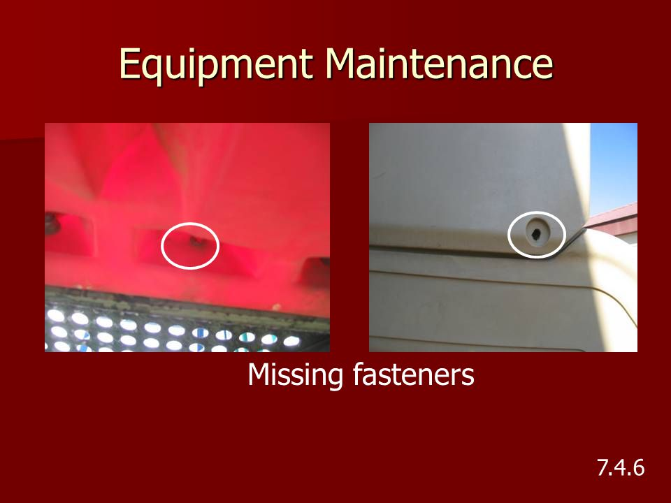 Equipment Maintenance