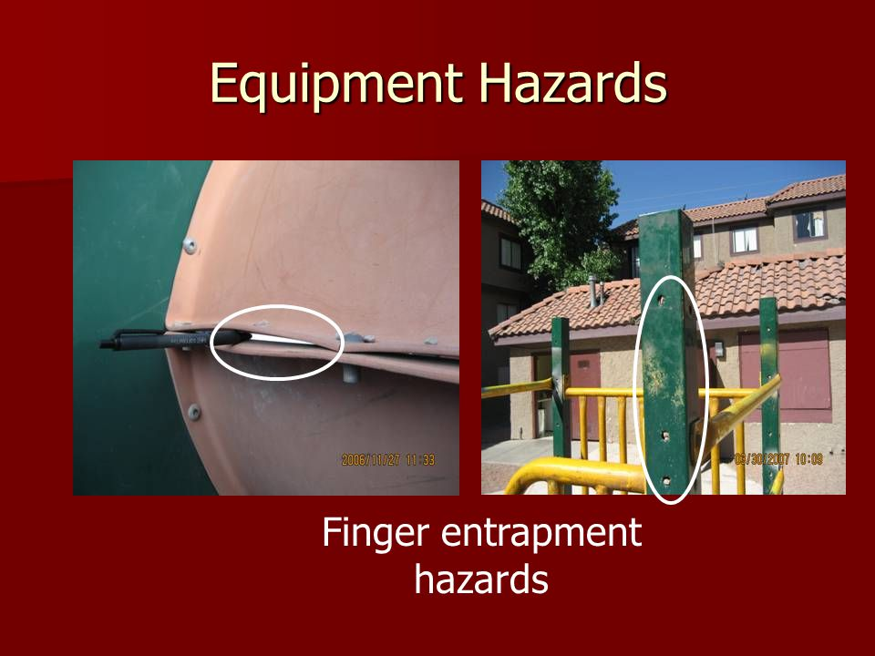 Finger entrapment hazards