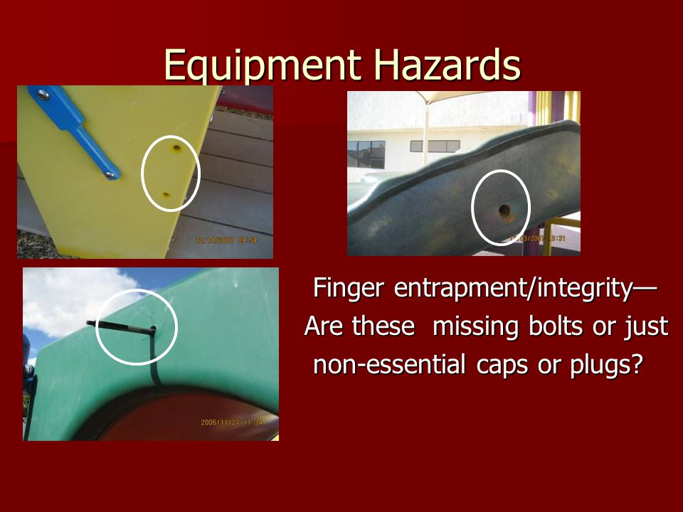 Equipment Hazards Are these missing bolts or just
