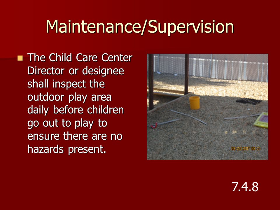 Maintenance/Supervision