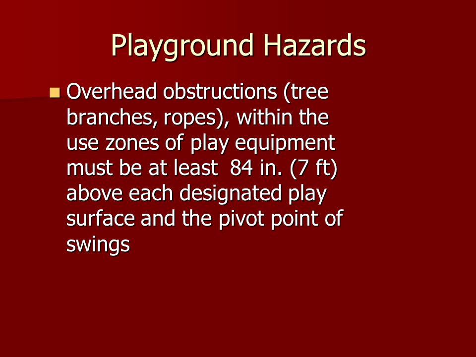 Playground Hazards