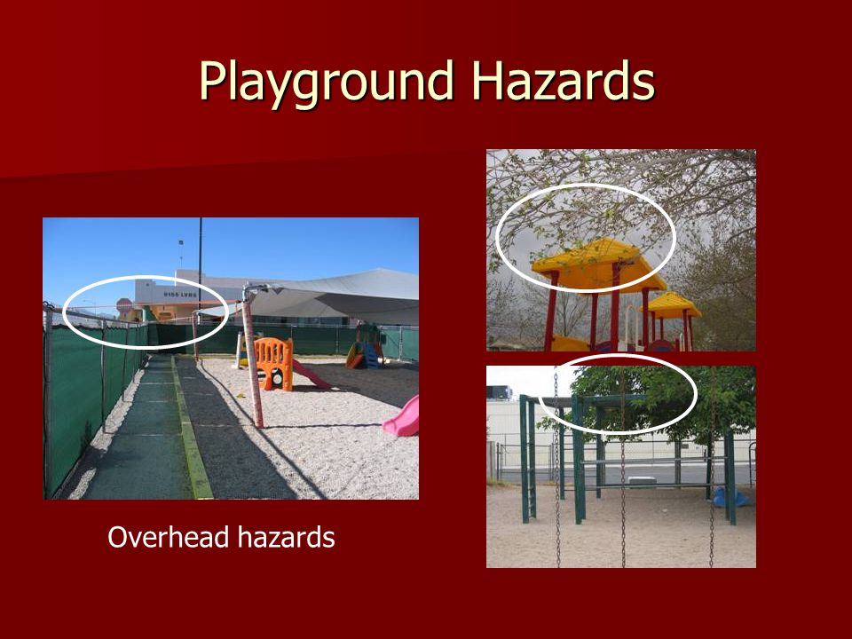 Playground Hazards Overhead hazards