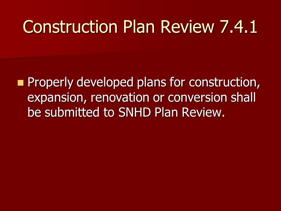 Construction Plan Review 7.4.1