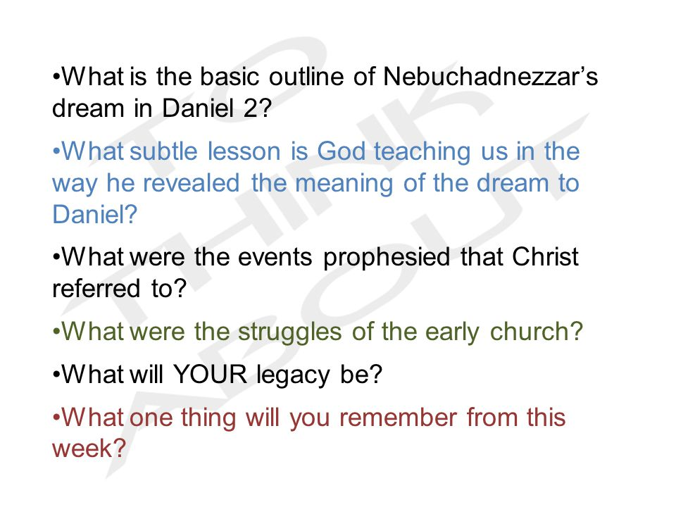 What is the basic outline of Nebuchadnezzar's dream in Daniel 2