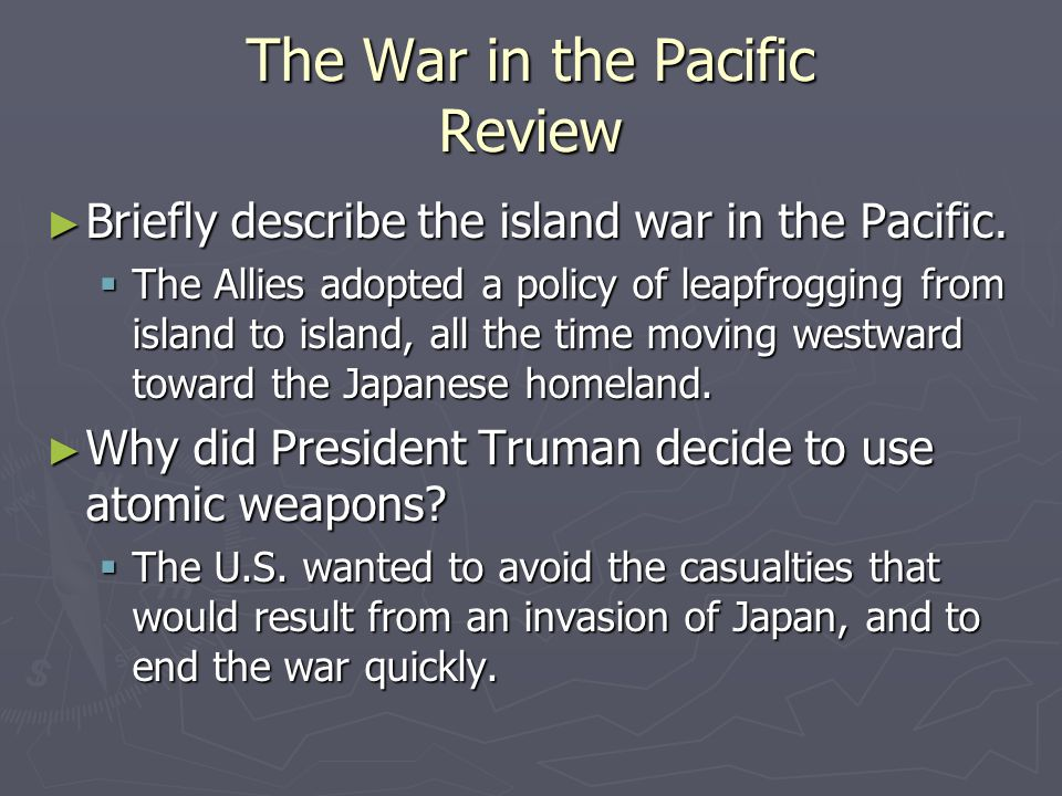 The War in the Pacific Review
