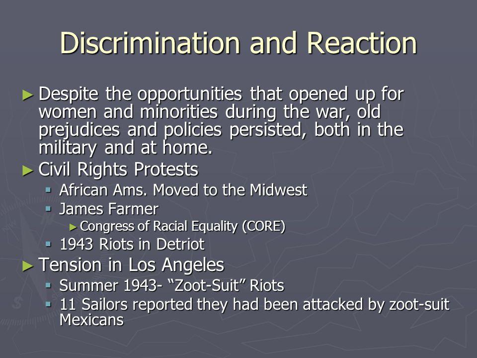 Discrimination and Reaction