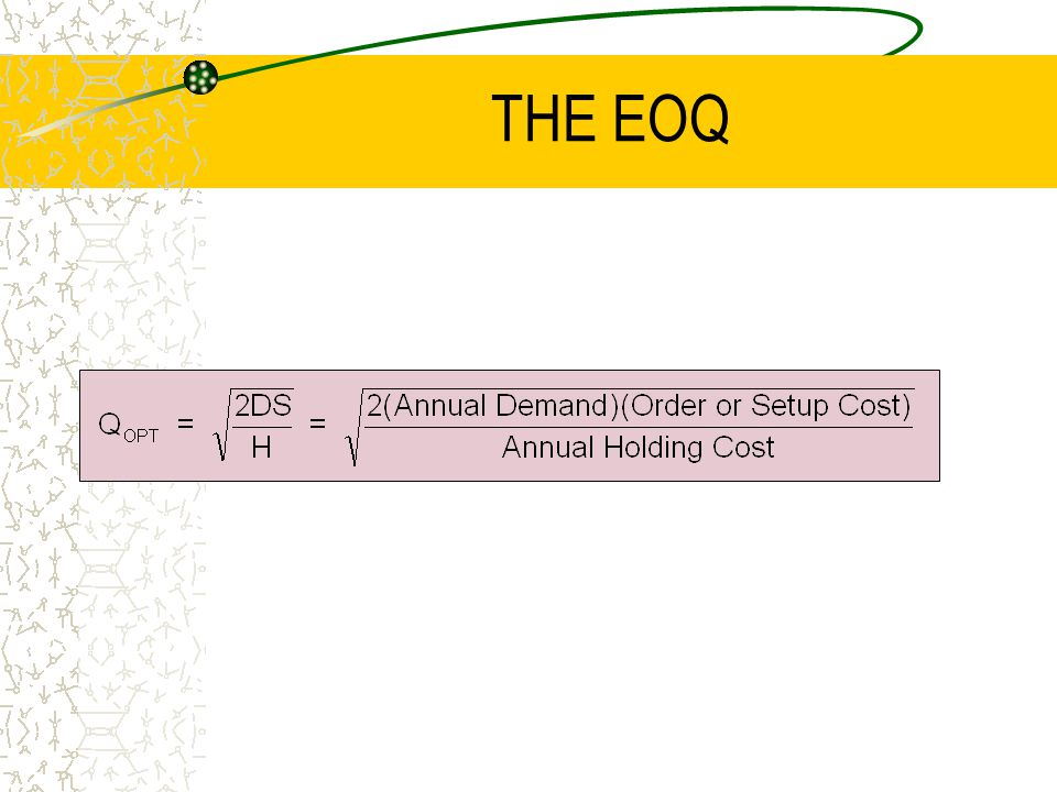 THE EOQ