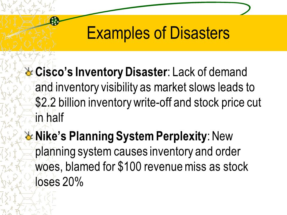 Examples of Disasters