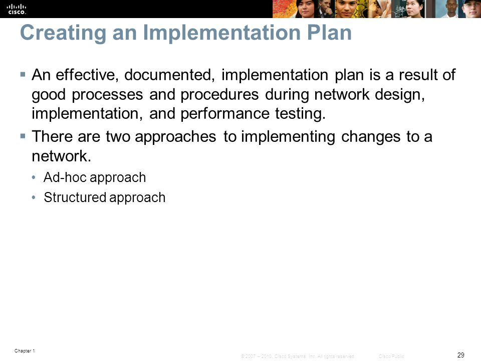 Creating an Implementation Plan