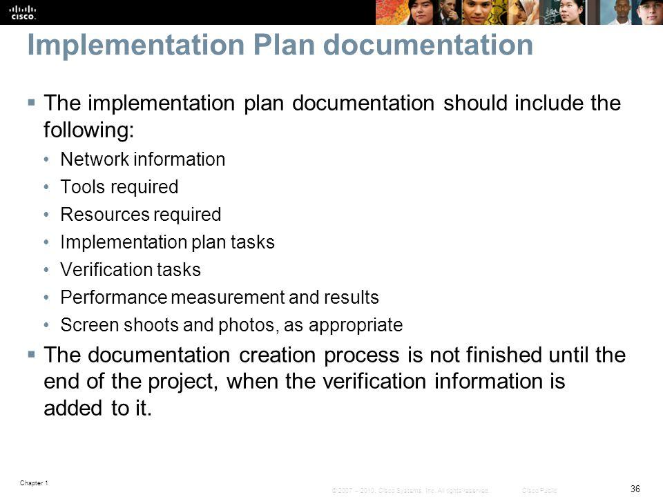 Implementation Plan documentation