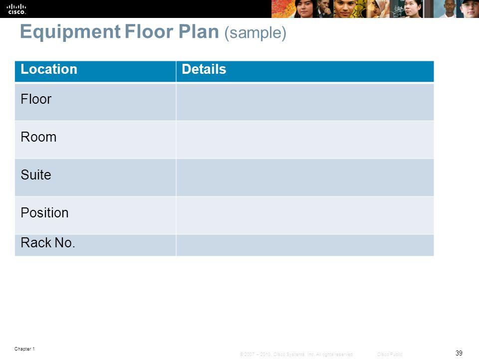 Equipment Floor Plan (sample)