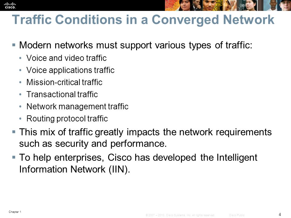 Traffic Conditions in a Converged Network