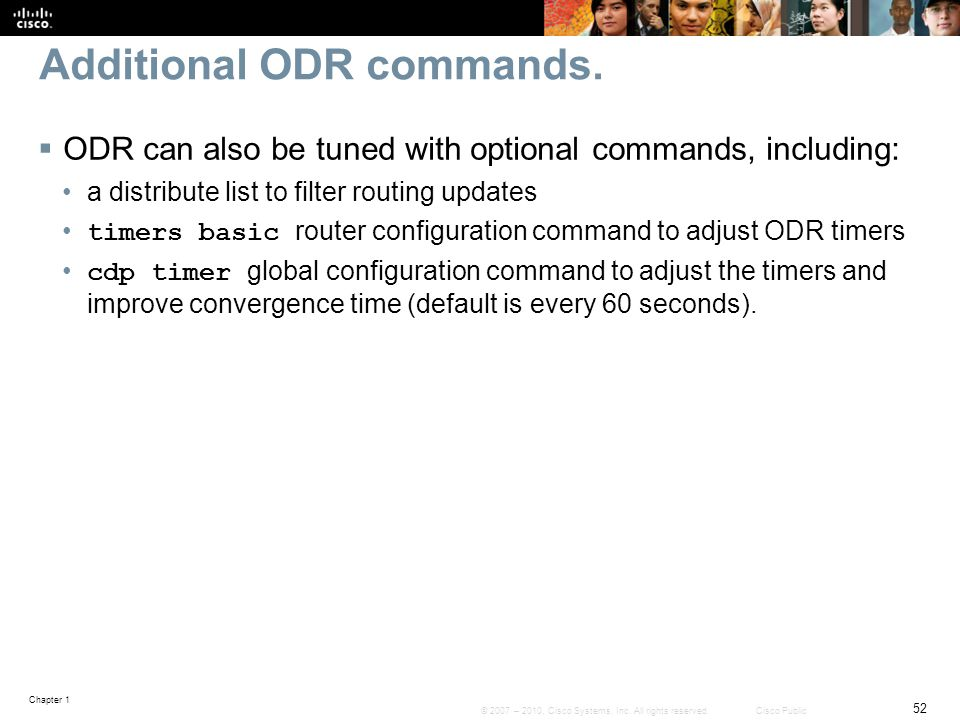 Additional ODR commands.