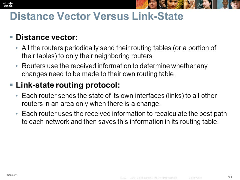 Distance Vector Versus Link-State