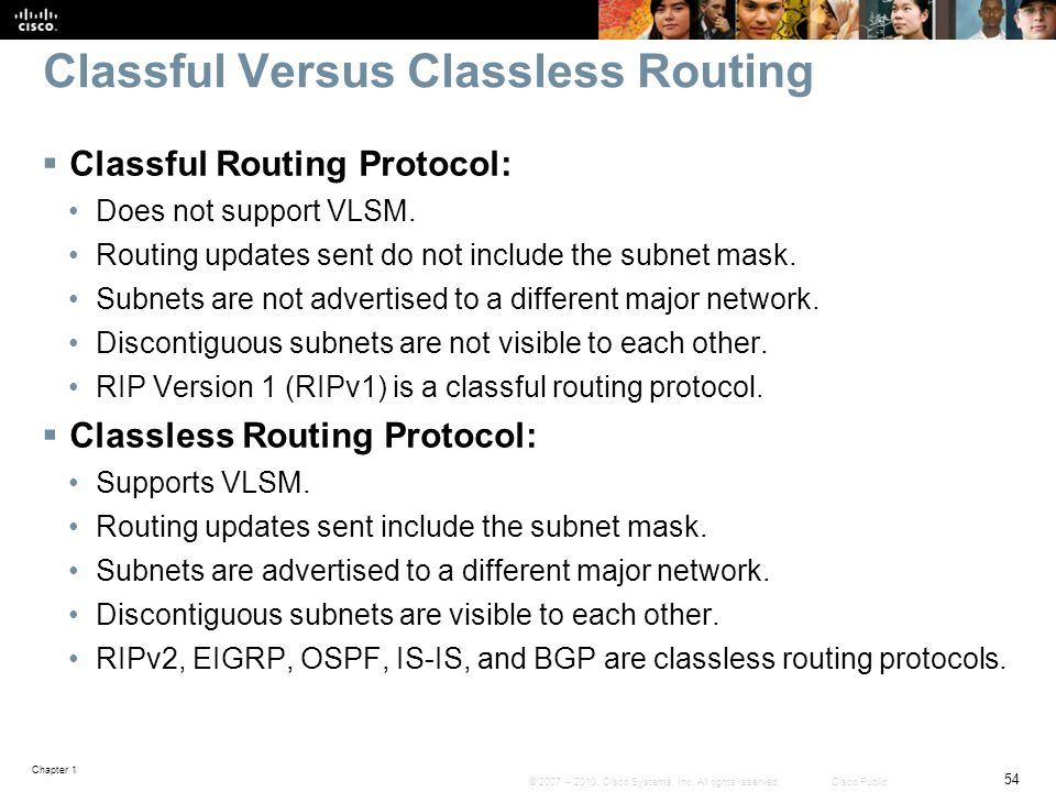 Classful Versus Classless Routing