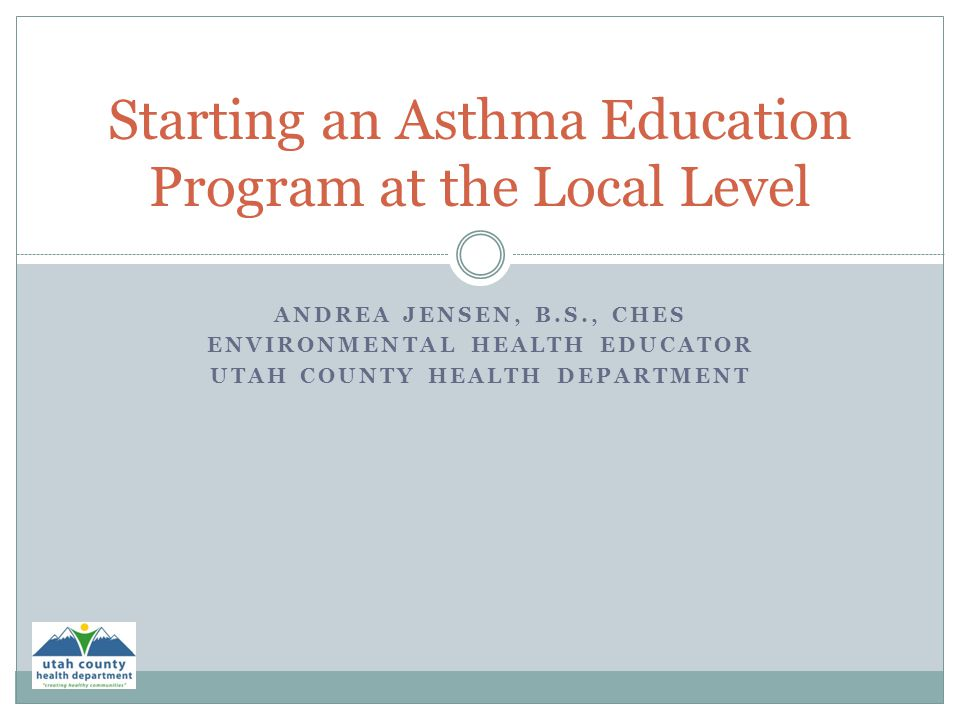 Starting an Asthma Education Program at the Local Level