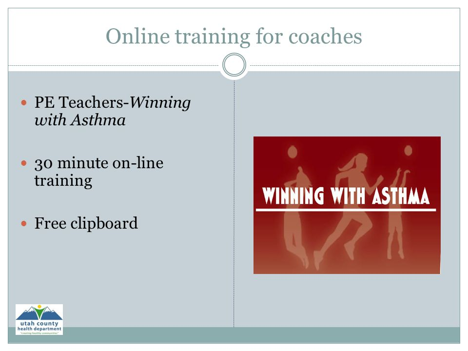 Online training for coaches