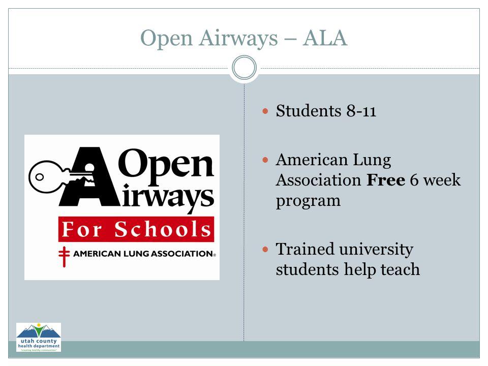 Open Airways – ALA Students 8-11