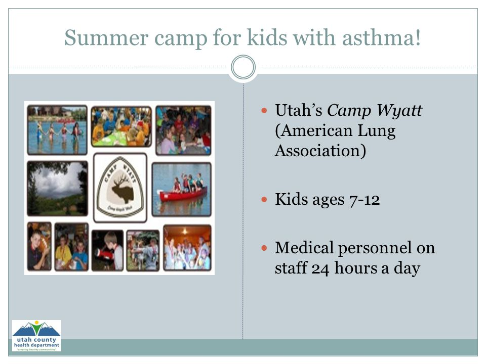 Summer camp for kids with asthma!