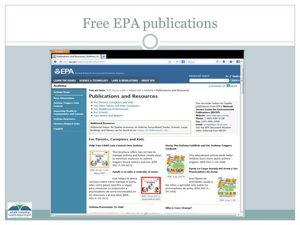 Free EPA publications