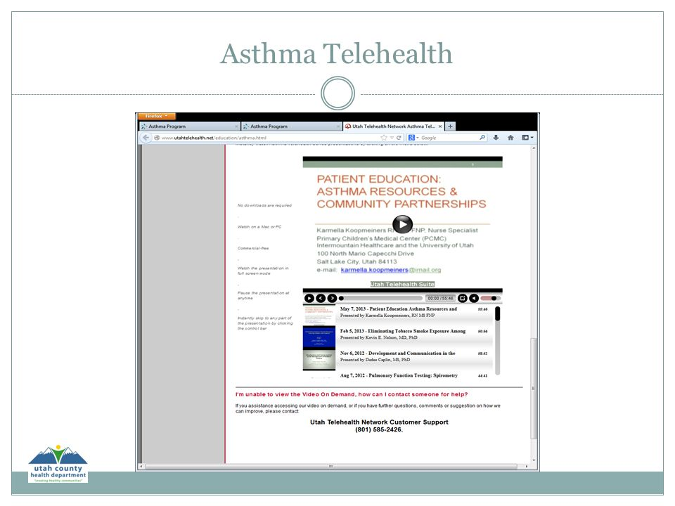 Asthma Telehealth