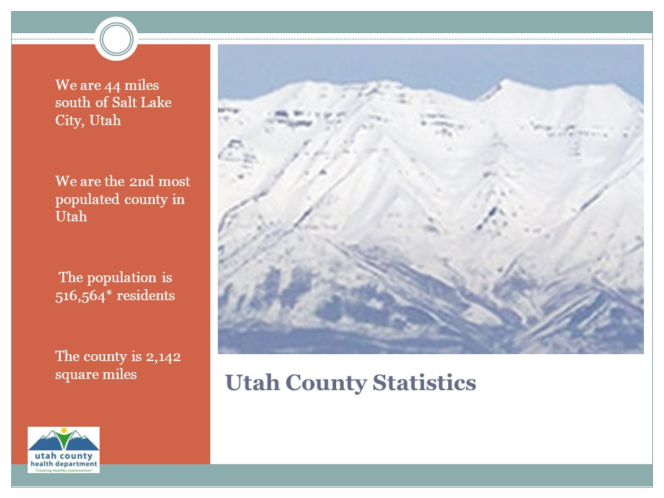 Utah County Statistics