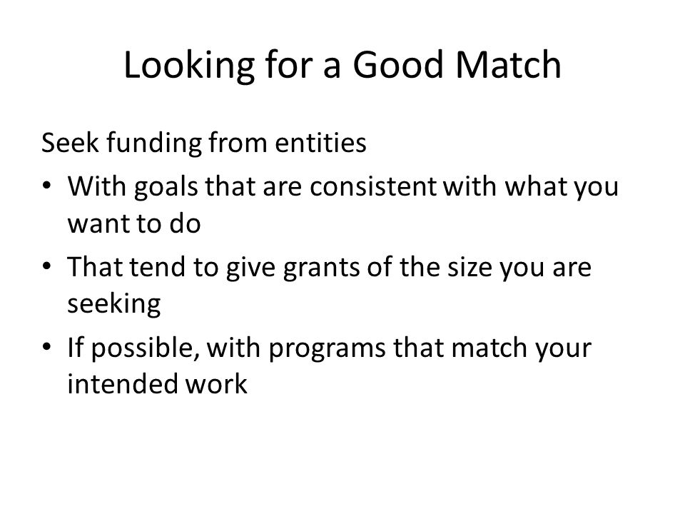 Looking for a Good Match