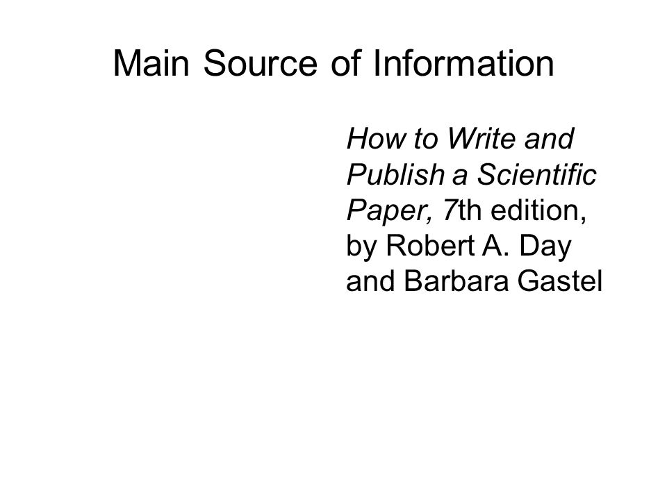 Main Source of Information