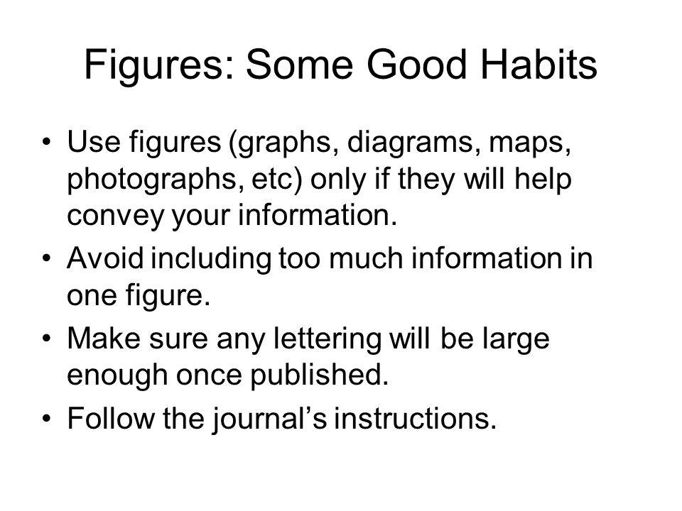Figures: Some Good Habits