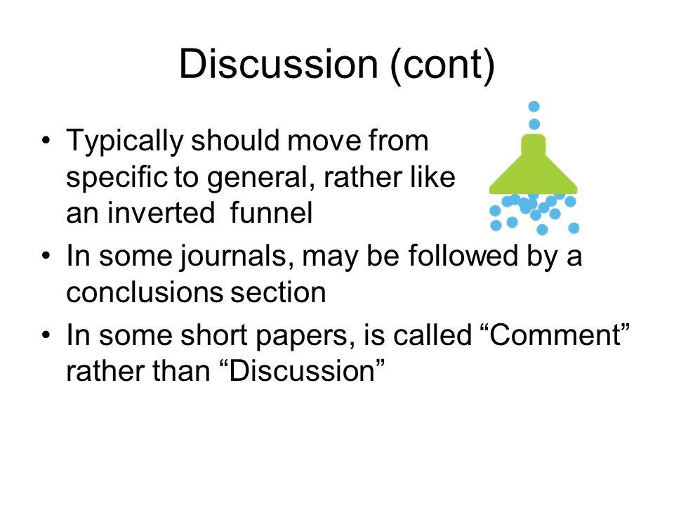 Discussion (cont)