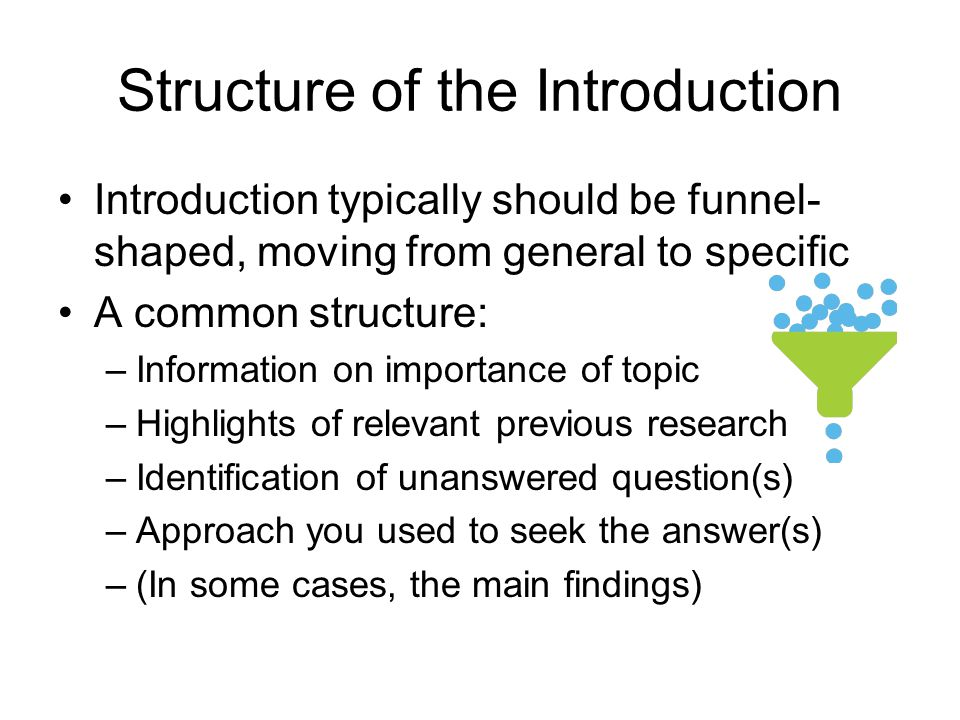 Structure of the Introduction