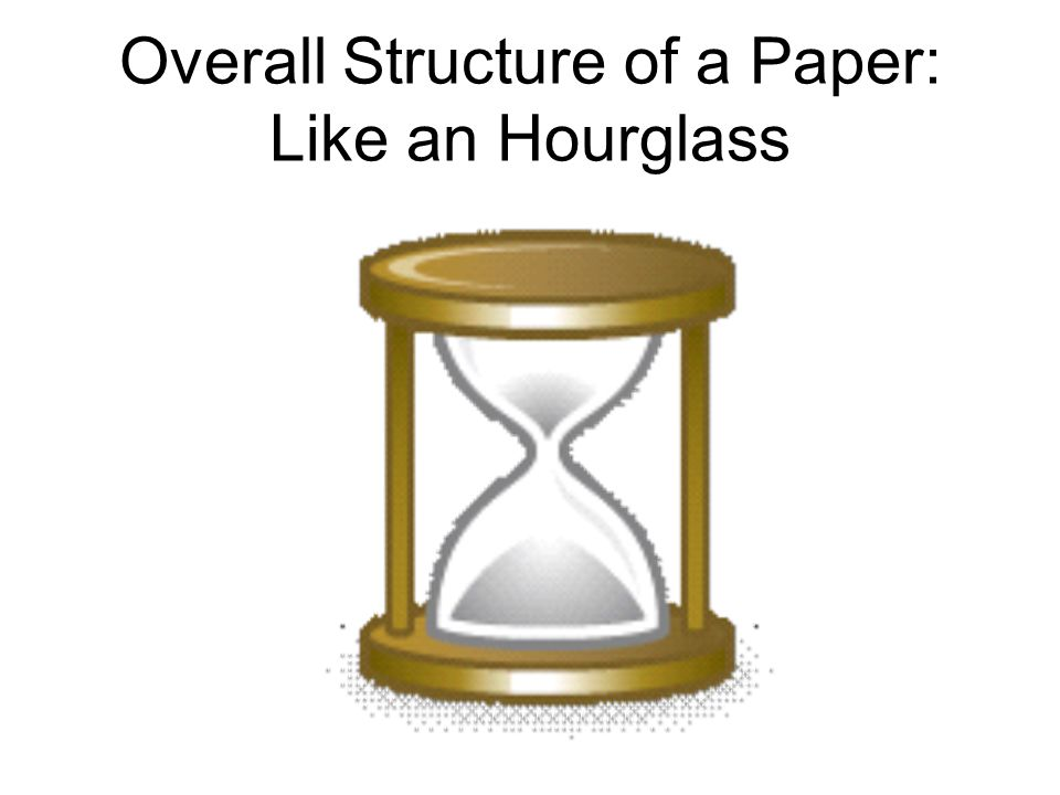 Overall Structure of a Paper: Like an Hourglass