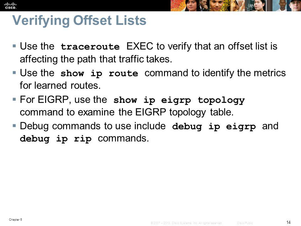 Verifying Offset Lists