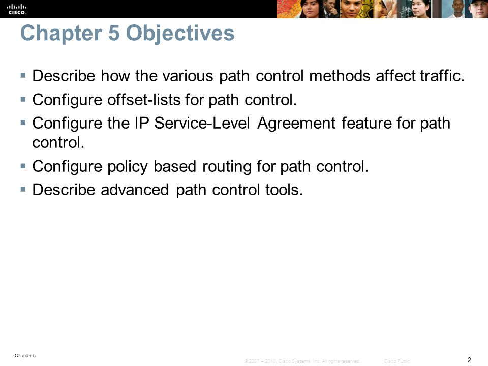 Chapter 5 Objectives Describe how the various path control methods affect traffic. Configure offset-lists for path control.