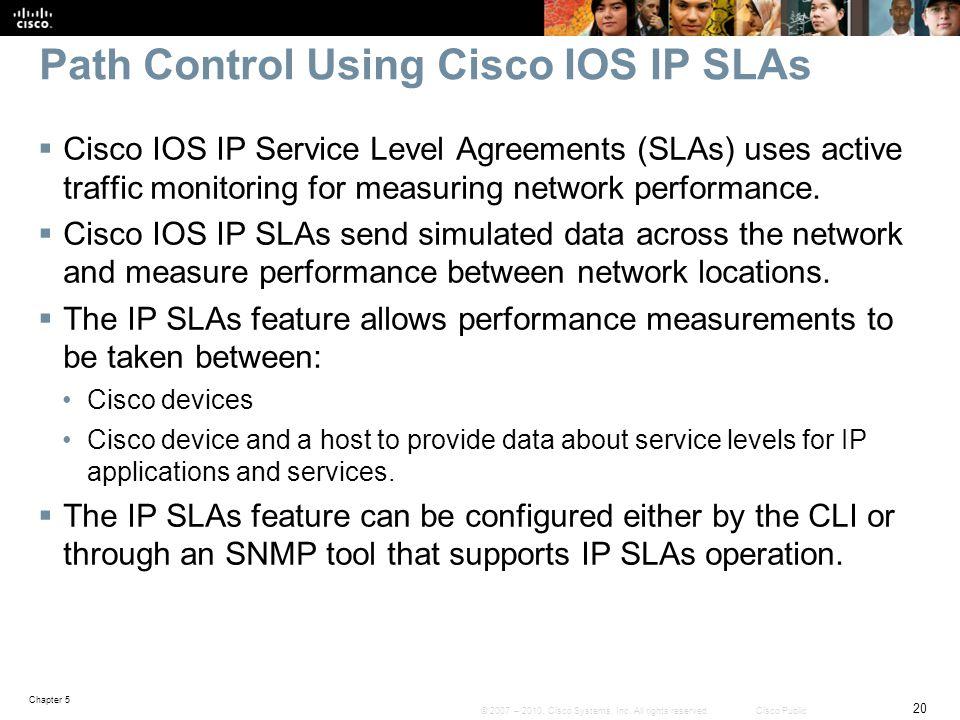 Path Control Using Cisco IOS IP SLAs