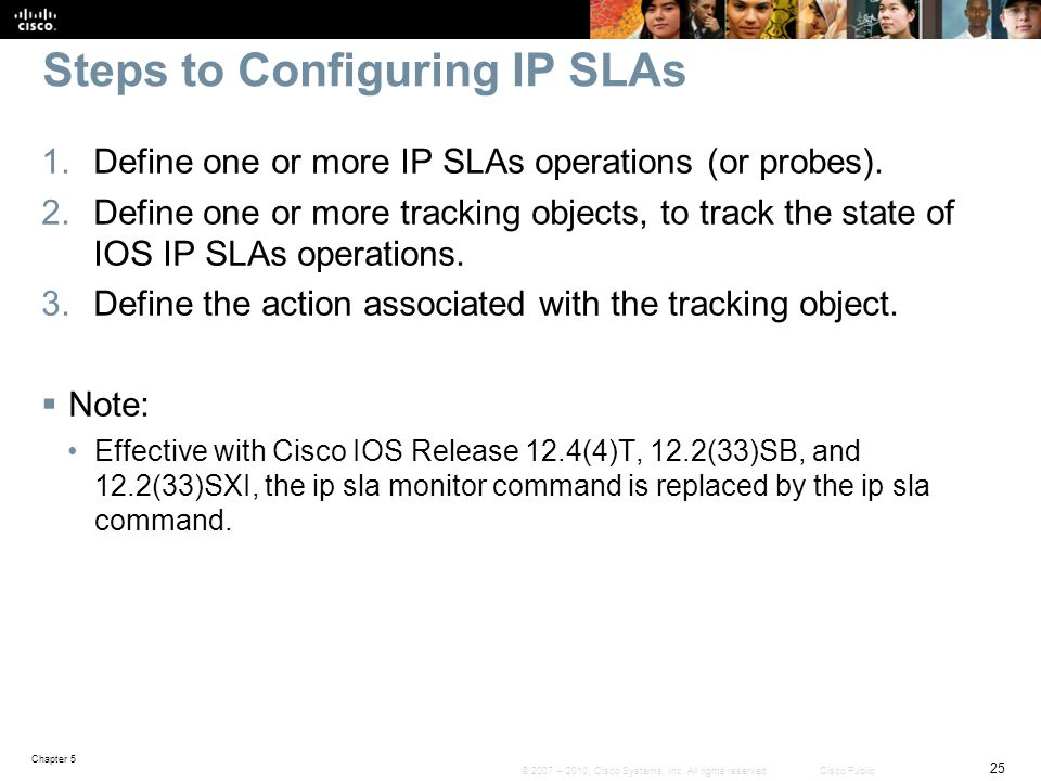 Steps to Configuring IP SLAs
