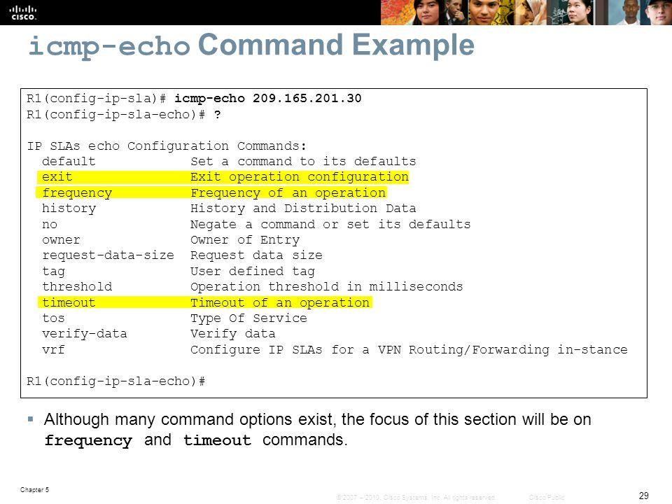 icmp-echo Command Example