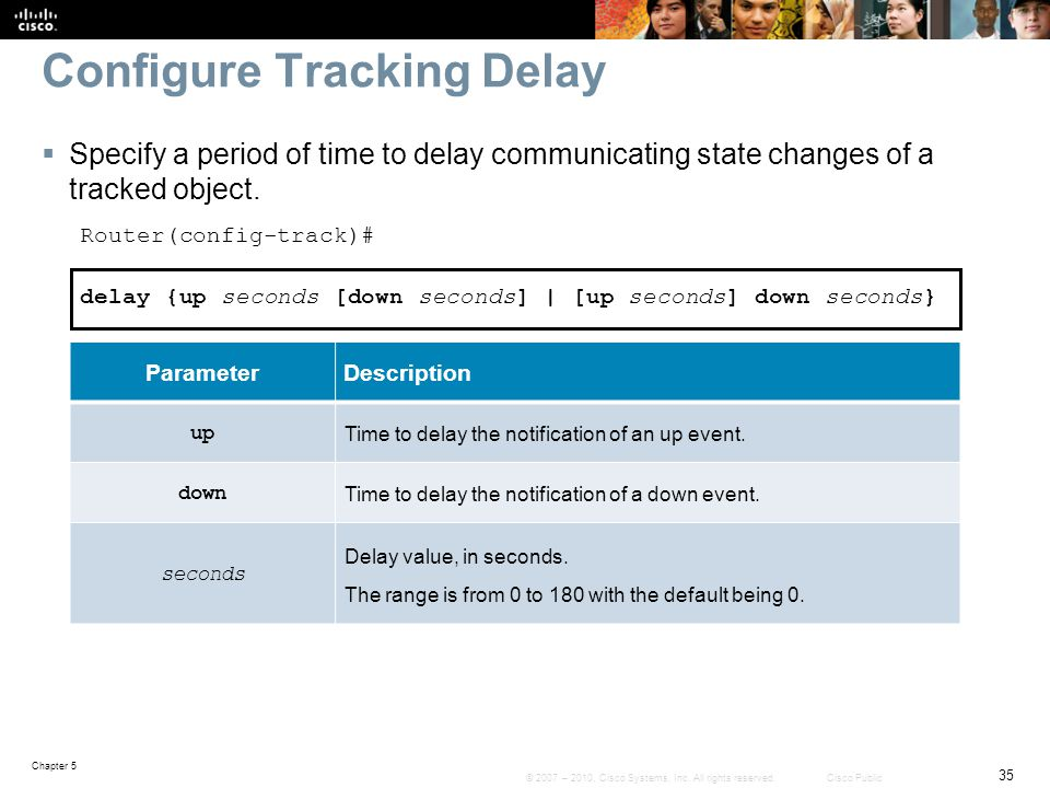 Configure Tracking Delay