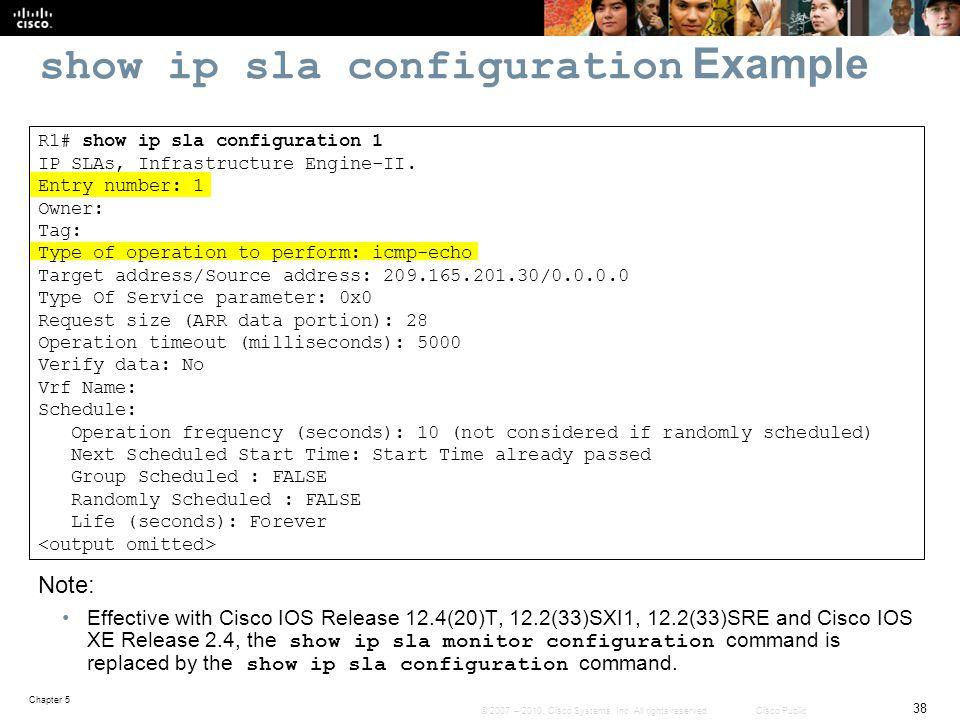 show ip sla configuration Example