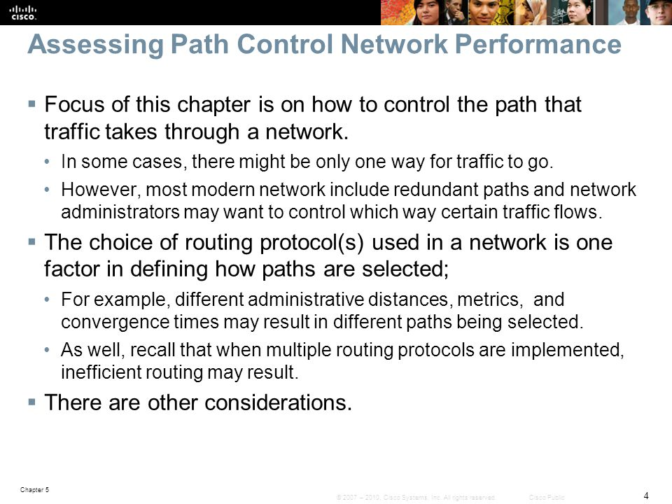 Assessing Path Control Network Performance