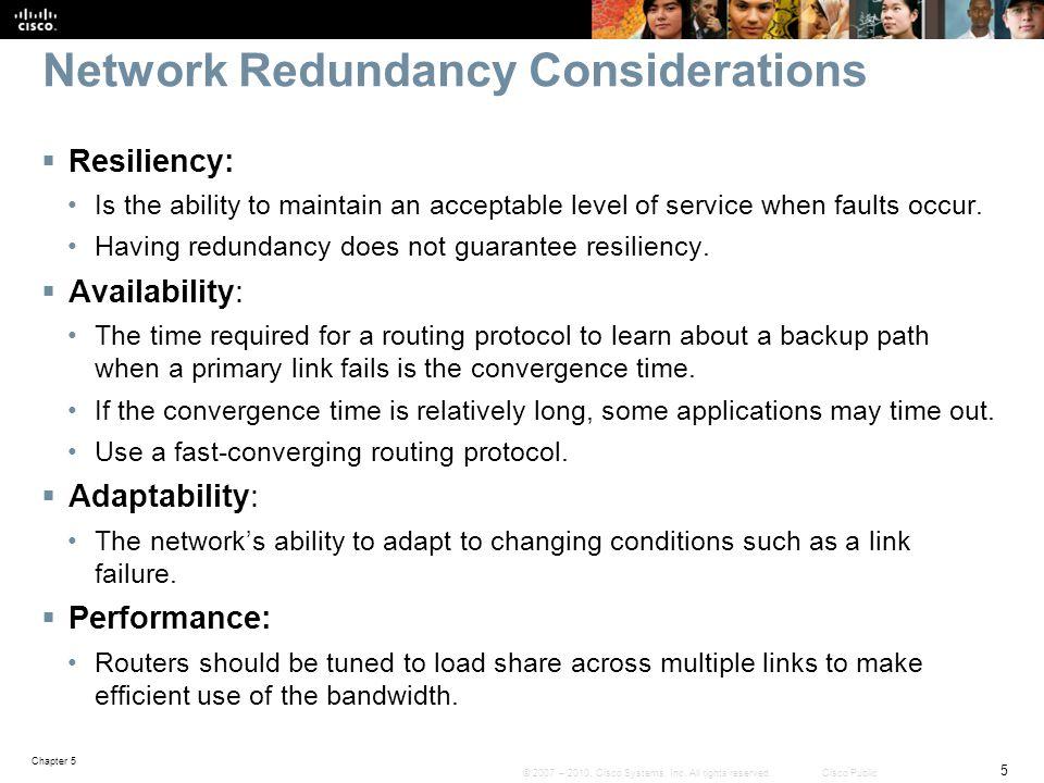 Network Redundancy Considerations