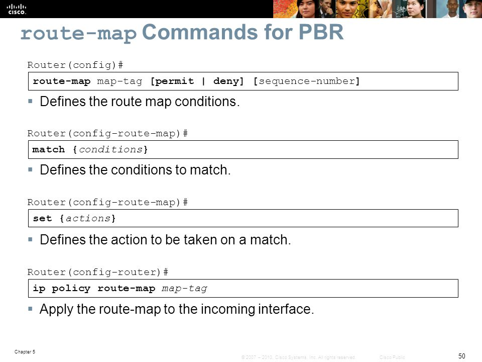 route-map Commands for PBR