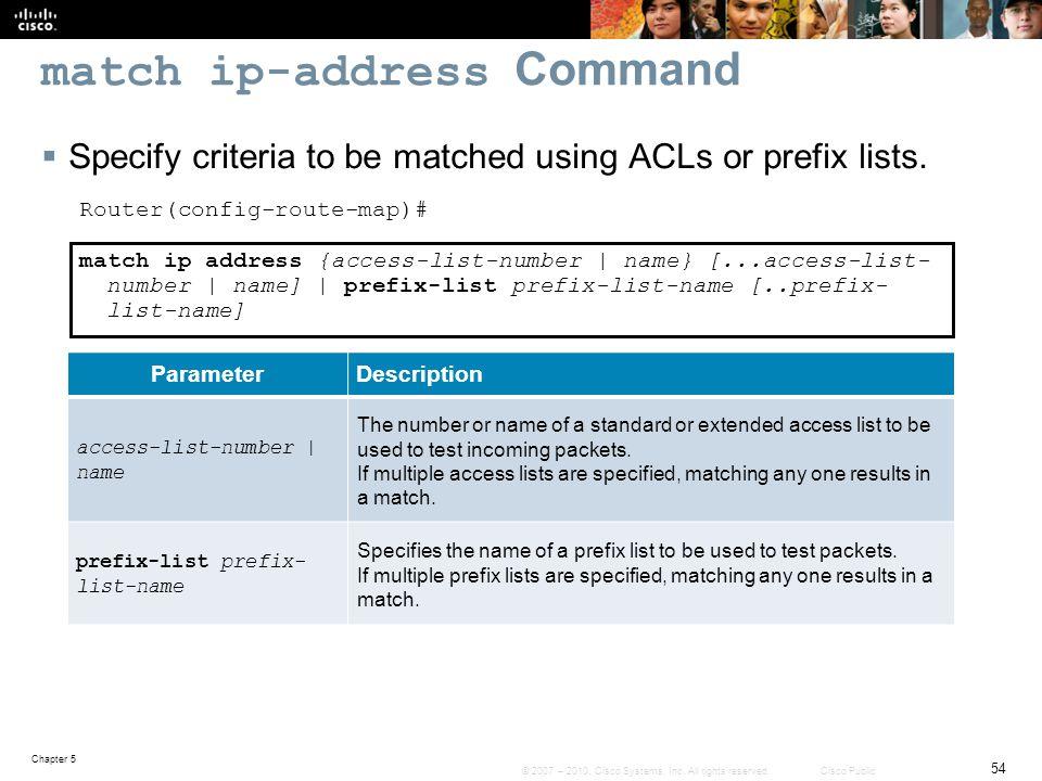 match ip-address Command