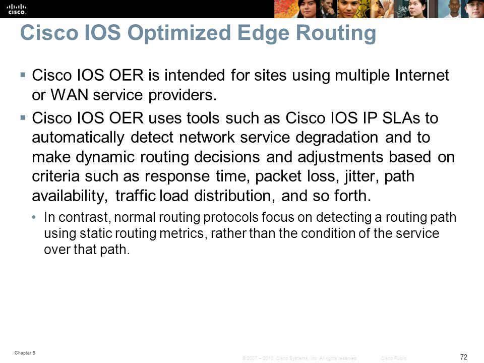 Cisco IOS Optimized Edge Routing