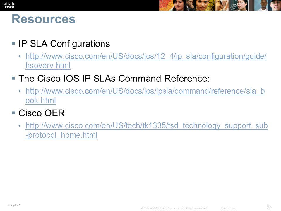 Resources IP SLA Configurations