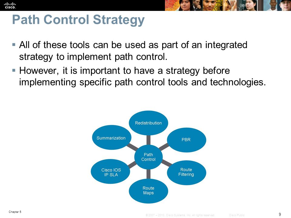 Path Control Strategy All of these tools can be used as part of an integrated strategy to implement path control.