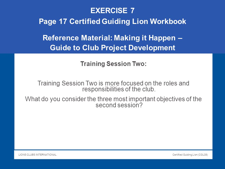 Page 17 Certified Guiding Lion Workbook